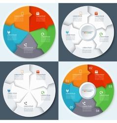 Set of modern minimal infographics circles vector image