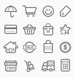 Shopping symbol line icon vector