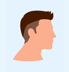 Side view man face vector