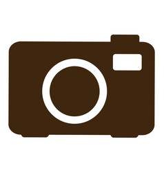 Silhouette analog camera icon flat vector