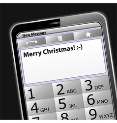 smartphone with sms on the screen vector image vector image