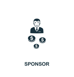 Sponsor icon symbol creative sign from passive vector