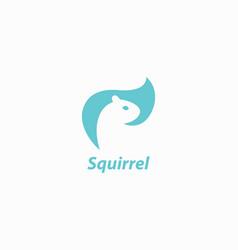 Squirrel logo design vector