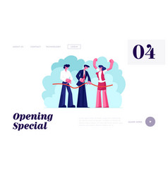 store open presentation event website landing page vector image