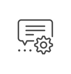 Technical conversation line icon vector