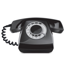 Telephone vintage isolated 3d vector