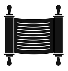 Torah scroll icon simple style vector