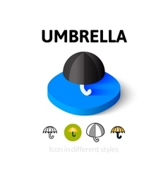 Umbrella icon in different style vector