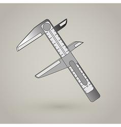 Vernier Caliper Icon vector image