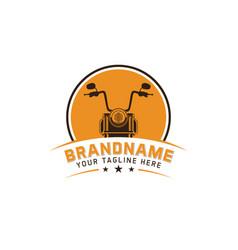 vintage motorcycle logo emblem vector image