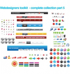 web collections vector image