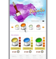 website template paint shop vector image