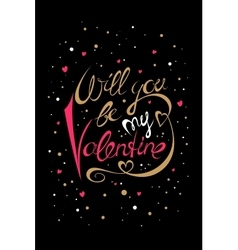 Will you be my valentine card vector