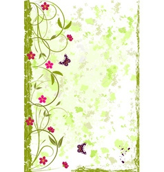 Beautiful grunge floral background vector image vector image