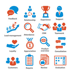 Business management icons pack 03 vector
