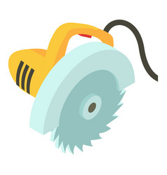 electric saw icon isometric 3d style vector image vector image