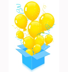 Flying out balloons vector image vector image