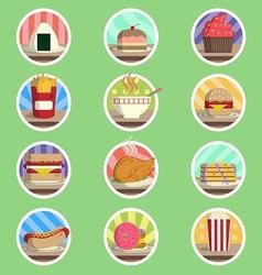 Food Menu Flat Icon vector image vector image