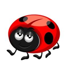 happy ladybird vector image vector image