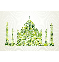 India go green concept vector image vector image