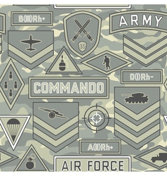 seamless military pattern 11 vector image