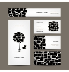 Business cards design photo frames vector image vector image
