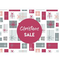 christmas sale christmas present background vector image vector image