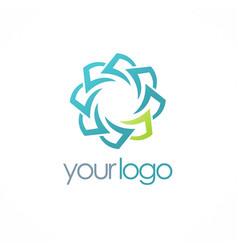 circle paper logo vector image vector image