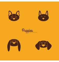 Cute dog Faces vector image vector image