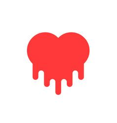 red bleeding heart icon vector image vector image