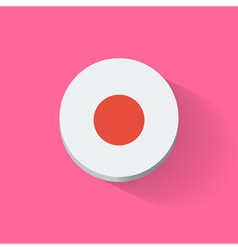 Round icon with flag of Japan vector image vector image