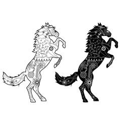 Set of black horses vector image vector image