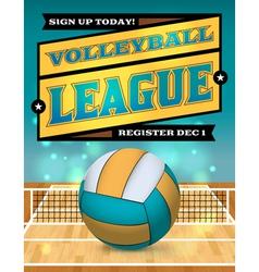 Volleyball league flyer vector