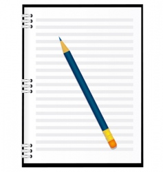 a notebook with a pencil vector image vector image