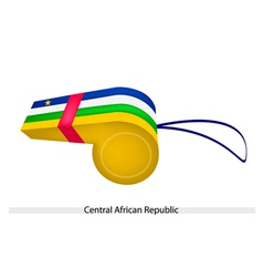 A Whistle of Central African Republic Flag vector image