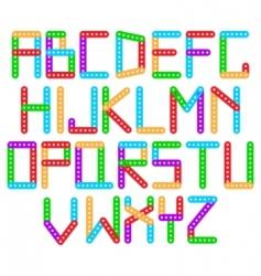 designer alphabet vector image