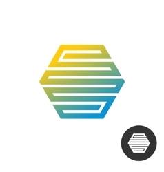 Hex tech construction logo vector image