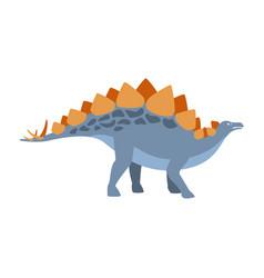 stegosaurus dinosaur of jurassic period vector image vector image