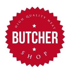 Butcher shop vintage stamp vector