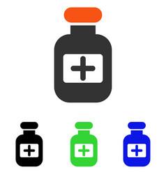 drugs bottle flat icon vector image