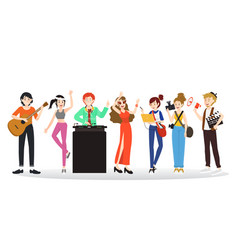 people of diverse professions vector image vector image