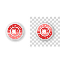 summer sale sticker 90 and 99 percent discount vector image vector image