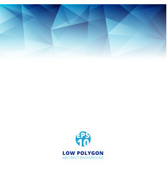 abstract low polygon light blue color polygonal vector image