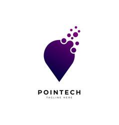 abstract pin icon logo design template vector image
