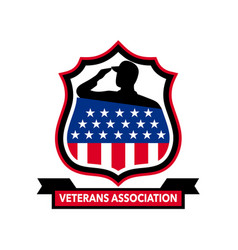 American veteran shield icon vector