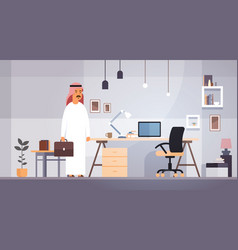 arab business man entrepreneur in modern office vector image