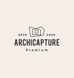 Architecture photography hipster vintage logo icon vector
