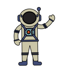 Astronaut spacesuit helmet antenna vector