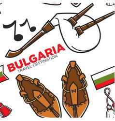 bast shoes and gaida bulgarian national instrument vector image