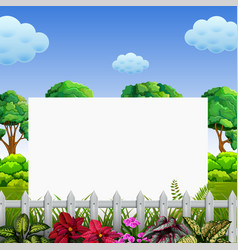 beuatiful nature frame with the good view vector image